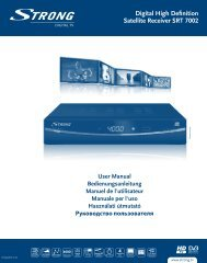Digital High Definition Satellite Receiver SRT 7002 - STRONG ...