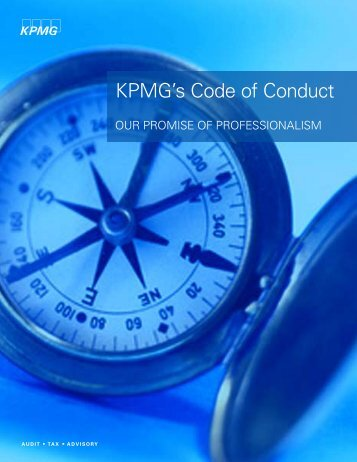 KPMG's Code of Conduct - EthicsPoint
