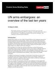 Oxfam briefing note - Control Arms
