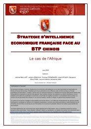 Stratégie d'intelligence économique française face au BTP chinois ...