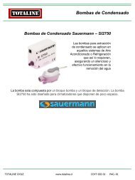 Bomba de Condensado Sauermann.pdf - Totaline Chile