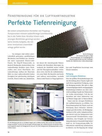 Perfekte Tiefenreinigung - EMO Oberflächentechnik