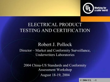 2004 UL - 1 - Market Access and Compliance