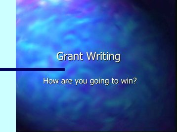 Grant Writing - Tool Factory