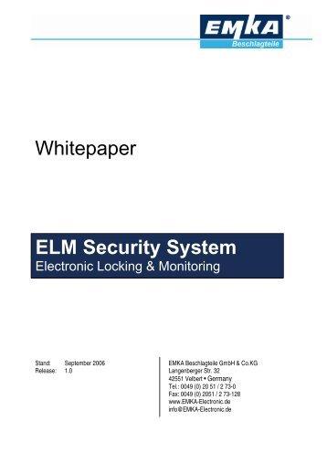 ELM Security System - EMKA Beschlagteile
