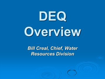 Bill Creal, Chief, Water Resources Division