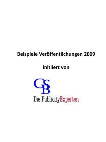 Clipping-Beispiele 2009