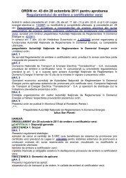 ORDIN nr. 43 din 20 octombrie 2011 pentru aprobarea ...