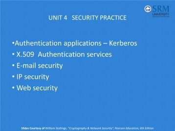 UNIT 4 SECURITY PRACTICE