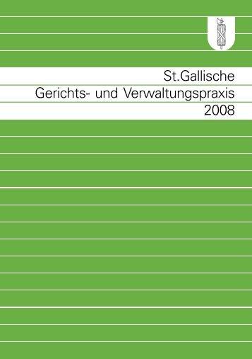 St.gallische Gerichts- und Verwaltungspraxis 2008
