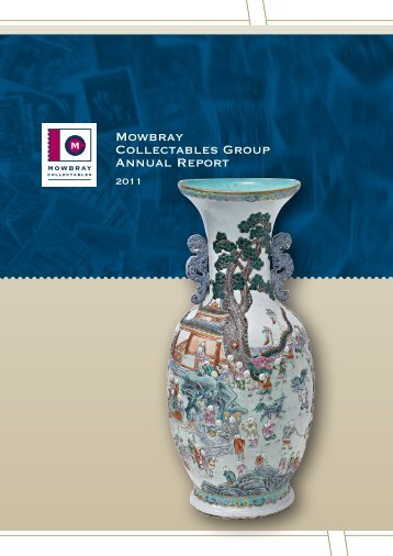 Mowbray Collectables Group Annual Report 2011