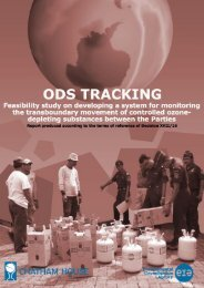 ODS tracking feasibility study on developing a system for monitoring ...