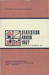 Statistisk Årbok 1967 - SSB