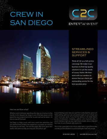 Crew In San Diego pdf document - C2C inc – California