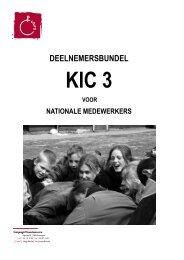 deelnemersbundel KIC 3 voor nationalen 09-10 - Chiro