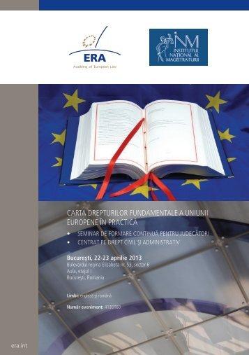 Carta drepturilor fundamentale a uniunii europene în praCtiCă
