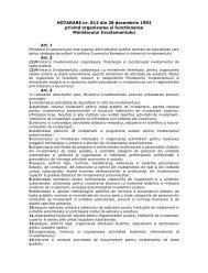 HOTARARE nr. 812 din 28 decembrie 1992 privind organizarea si ...