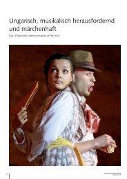 Ungarisch, musikalisch herausfordernd und märchenhaft - Impulse