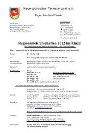 Regionsmeisterschaften 2012 im Einzel