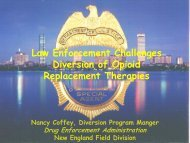 Law Enforcement Challenges Diversion of Opioid Replacement ...