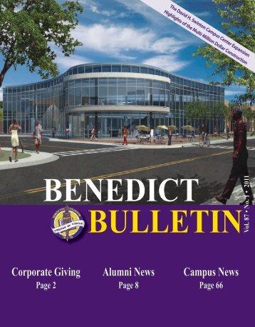 Benedict Bulletin, Vol. 87, No. 1, 2011 - Benedict College