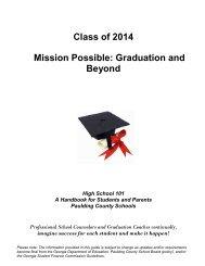 High School 101 Class of 2014 - It works! - Paulding County Schools
