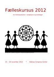 Fælleskursus program 2012 - De Offentlige Tandlæger
