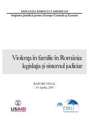 Violenţa în familie în România - Institutul Naţional al Magistraturii