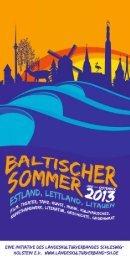 Programmheft Baltischer Sommer - Landeskulturverband Schleswig ...