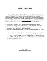 ANUNÅ¢ CONCURS - Institutul ORL