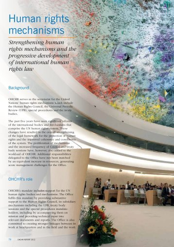 Human rights enforcement mechanisms - Office for the high commissioner for human rights ...