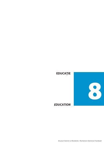 EDUCAÞIE EDUCATION - Institutul National de Statistica