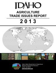 agriculture trade issues report 2 0 1 3 - Idaho Department of ...