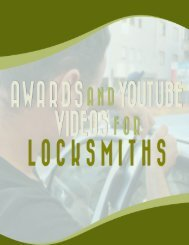 Awards And Youtube Videos For Locksmiths