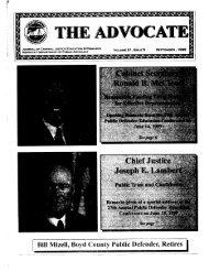 advocate-vol 21-no 5-entire issue - Department of Public Advocacy