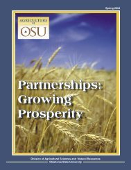 Ag at OSU Spring 2004 - OSU Fact Sheets - Oklahoma State ...