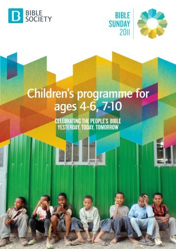 Children's materials - Bible Society