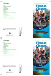 Fitness Classes Fitness Classes - City of Bellevue