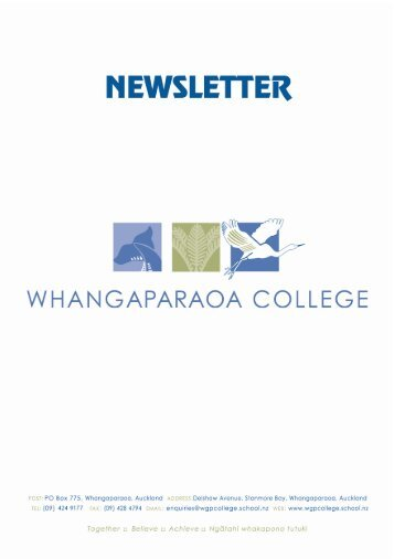 Performing Arts - Whangaparaoa College