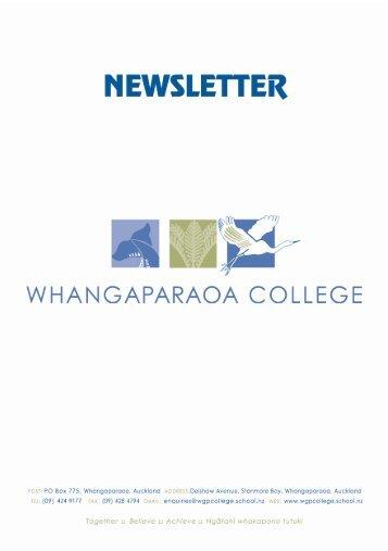 Performing Arts - Whangaparaoa College