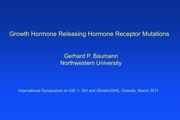 GHRH receptor mutations - USF Health Continuing Professional ...
