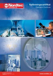 Kalibreringscertifikat - Nordtec Instrument AB