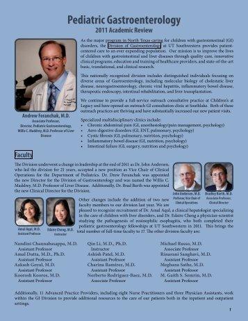 Pediatric Gastroenterology - UT Southwestern