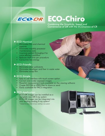 ECO - Chiro - Custom X-Ray Digital Equipment