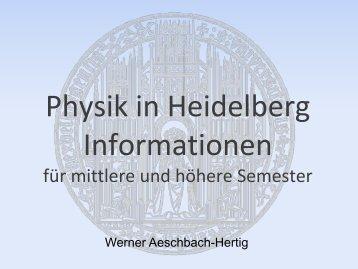 Im Bachelor - Fakultät für Physik und Astronomie