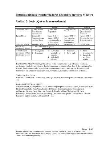 Guía del Maestro - BaptistWay Press
