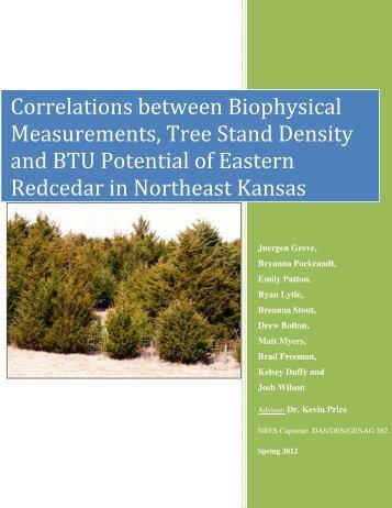 Correlations between Biophysical Measurements, Tree Stand ...