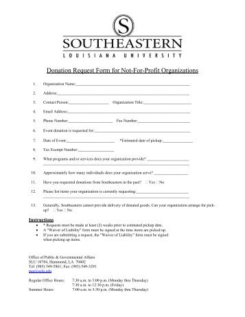 Community Relations Donation Request Form Local Events Submit