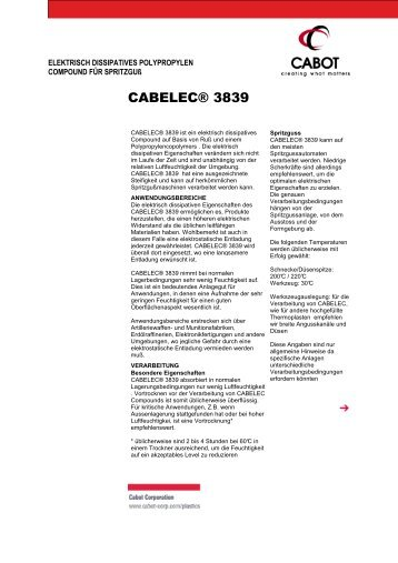 CABELEC® 3839 - Cabot Corporation