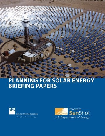 Download a collection of all six solar briefing papers (pdf)